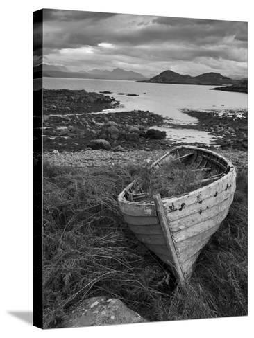 Sunset, Old Blue Fishing Boat, Inverasdale, Loch Ewe, Wester Ross, North West Scotland-Neale Clarke-Stretched Canvas Print