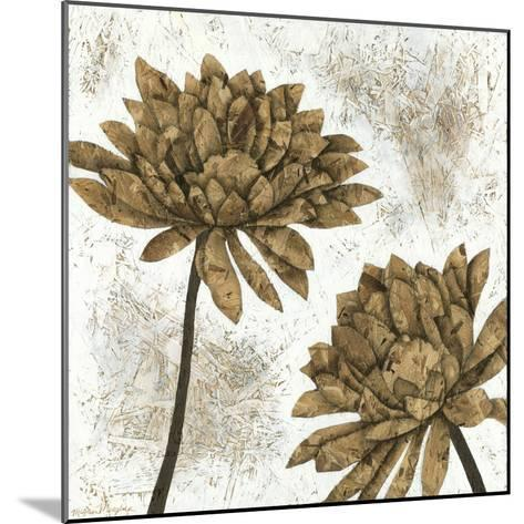White Washed Dahlias I-Megan Meagher-Mounted Art Print