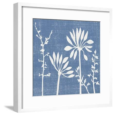 Blue Linen IV-Megan Meagher-Framed Art Print
