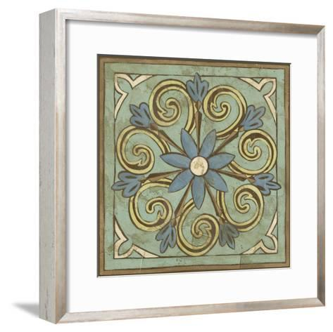 Non-Embellished Ornamental Tile III--Framed Art Print
