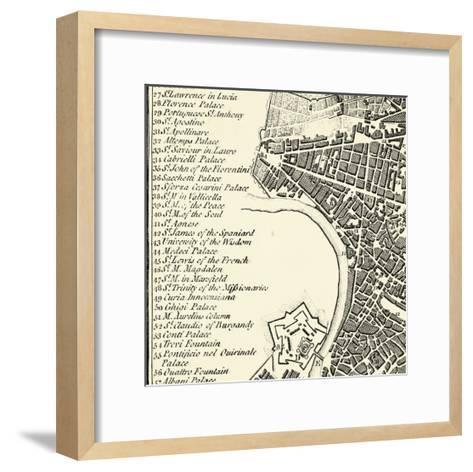 City of Rome Grid IV--Framed Art Print