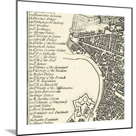 City of Rome Grid IV--Mounted Art Print