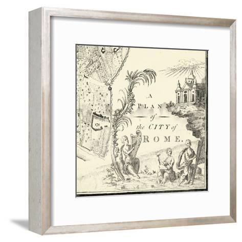 City of Rome Grid IX--Framed Art Print