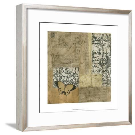 Vintage Assemblage I-J^ Holland-Framed Art Print