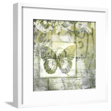 Non-Embld. Butterfly & Ironwork IV-Jennifer Goldberger-Framed Art Print
