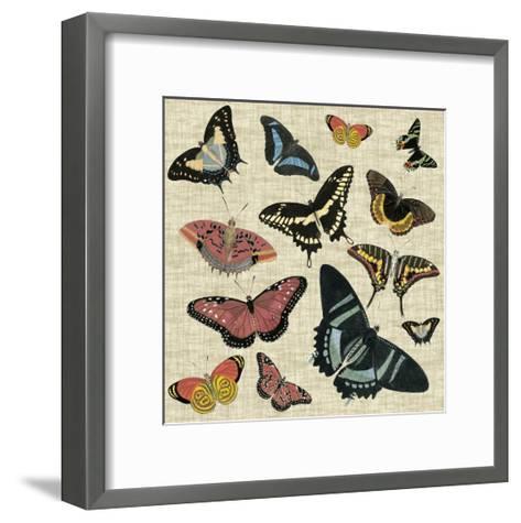 Butterflies & Linen II--Framed Art Print
