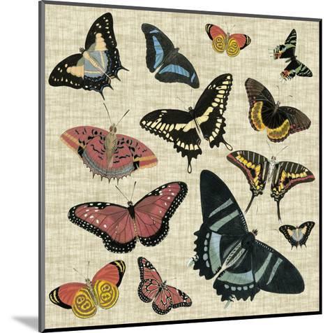 Butterflies & Linen II--Mounted Art Print