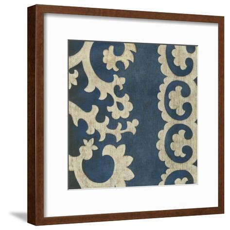 Indigo Suzani I-Chariklia Zarris-Framed Art Print