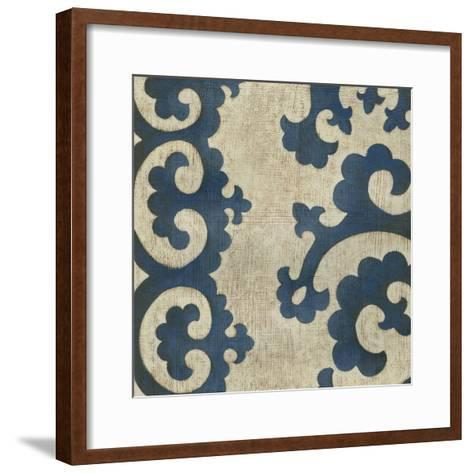 Indigo Suzani II-Chariklia Zarris-Framed Art Print
