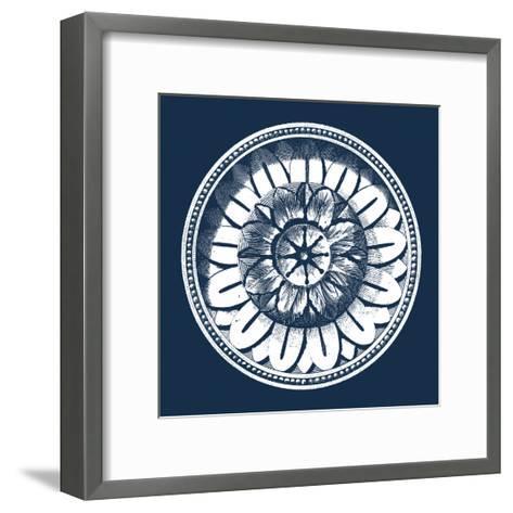 Classic Medallion on Navy IV--Framed Art Print