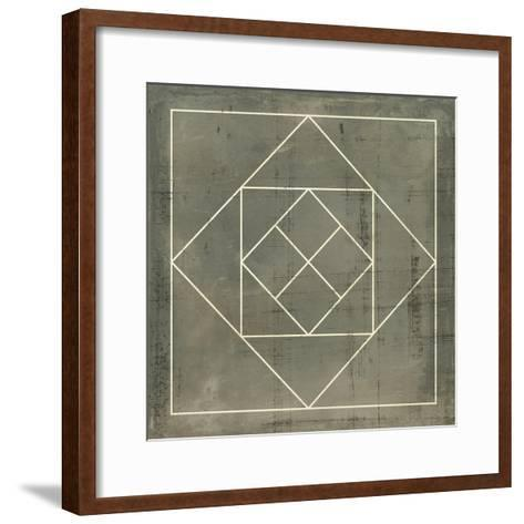 Geometric Blueprint V--Framed Art Print