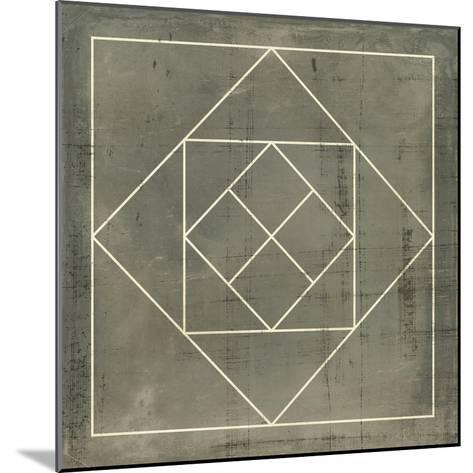 Geometric Blueprint V--Mounted Art Print