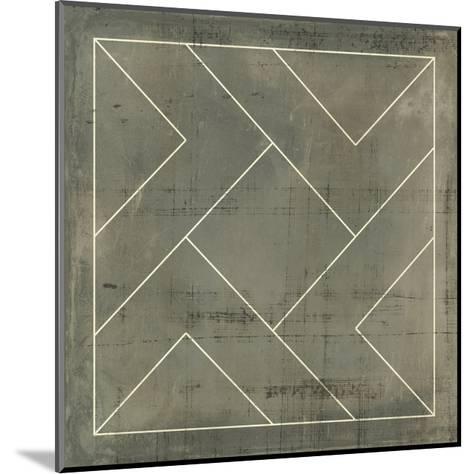 Geometric Blueprint VI--Mounted Art Print
