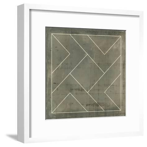 Geometric Blueprint VI--Framed Art Print