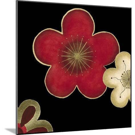 Pop Blossoms in Red II-Erica J^ Vess-Mounted Art Print