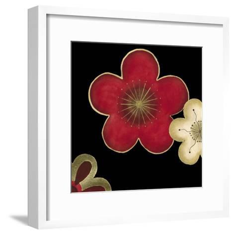 Pop Blossoms in Red II-Erica J^ Vess-Framed Art Print
