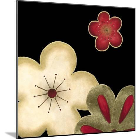 Pop Blossoms in Red I-Erica J^ Vess-Mounted Art Print