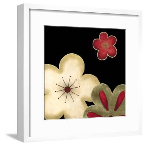 Pop Blossoms in Red I-Erica J^ Vess-Framed Art Print