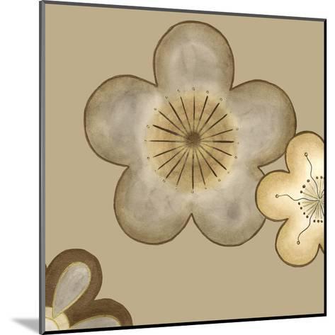 Pop Blossoms in Neutral II-Erica J^ Vess-Mounted Art Print