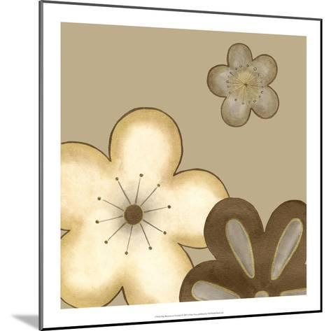 Pop Blossoms in Neutral I-Erica J^ Vess-Mounted Art Print