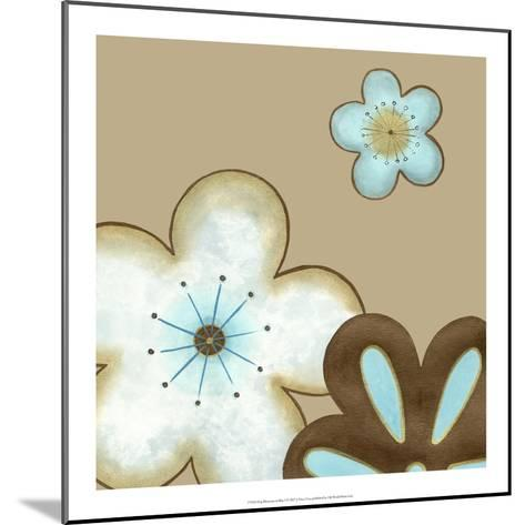 Pop Blossoms in Blue I-Erica J^ Vess-Mounted Art Print