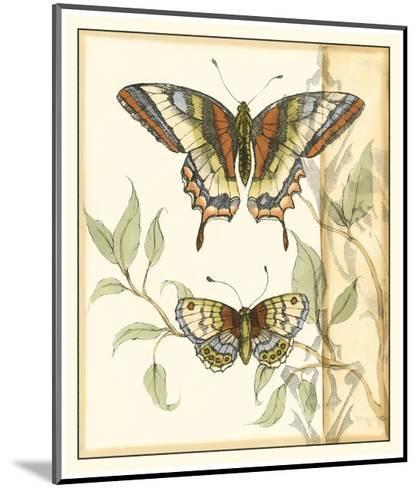Tandem Butterflies II-Jennifer Goldberger-Mounted Art Print