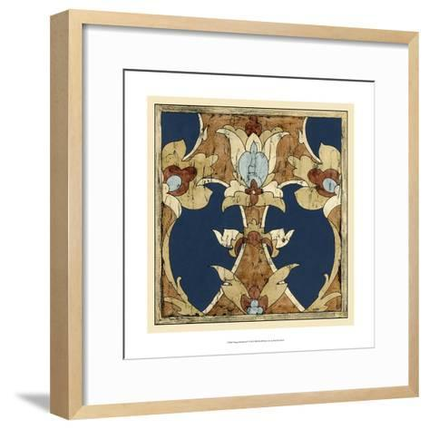 Vintage Woodblock IV-Chariklia Zarris-Framed Art Print