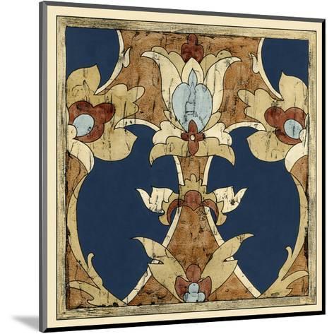 Vintage Woodblock IV-Chariklia Zarris-Mounted Art Print