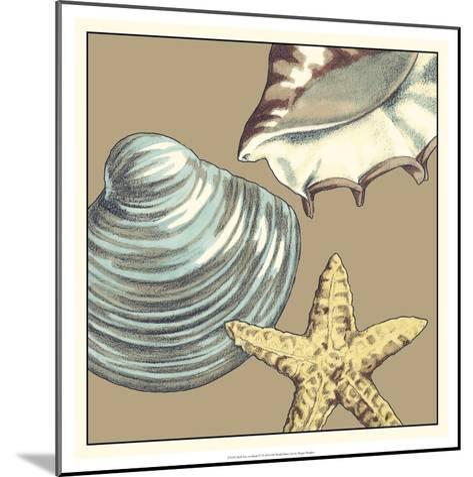 Shell Trio on Khaki IV-Megan Meagher-Mounted Art Print