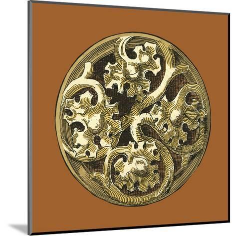 Graphic Medallion IV-Vision Studio-Mounted Art Print