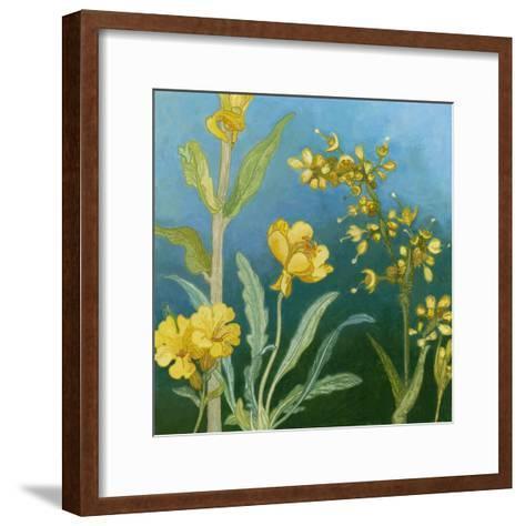 Azure Blooms I-Megan Meagher-Framed Art Print