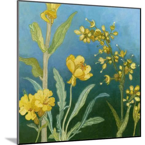 Azure Blooms I-Megan Meagher-Mounted Art Print