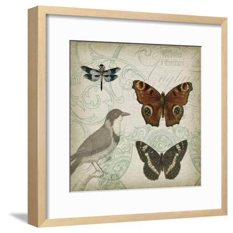 Cartouche and Wings IV-Jennifer Goldberger-Framed Art Print