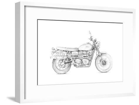 Motorcycle Sketch III-Megan Meagher-Framed Art Print