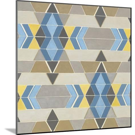 Blue and Yellow Geometry II-Megan Meagher-Mounted Art Print