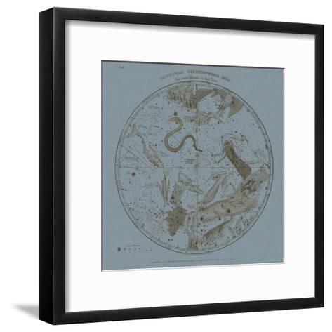 Southern Circumpolar Map-W^G^ Evans-Framed Art Print