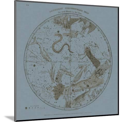 Southern Circumpolar Map-W^G^ Evans-Mounted Art Print