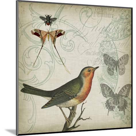 Cartouche & Wings I-Jennifer Goldberger-Mounted Art Print