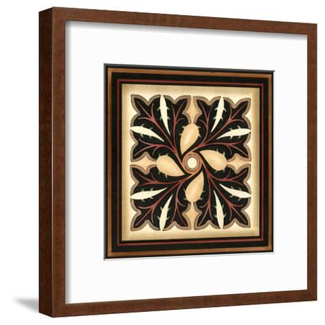 Crackled Square Wood Block V-Vision Studio-Framed Art Print