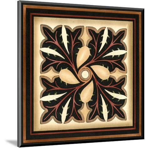 Crackled Square Wood Block V-Vision Studio-Mounted Art Print