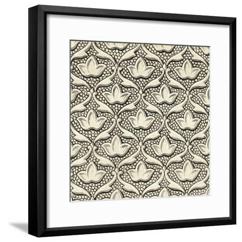 Ornamental Tile Motif IV-Vision Studio-Framed Art Print