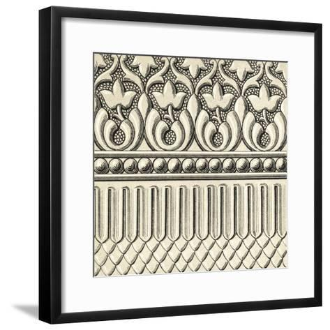 Ornamental Tile Motif V-Vision Studio-Framed Art Print