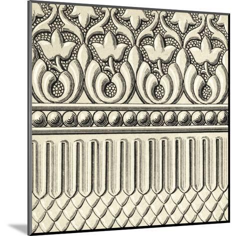 Ornamental Tile Motif V-Vision Studio-Mounted Art Print