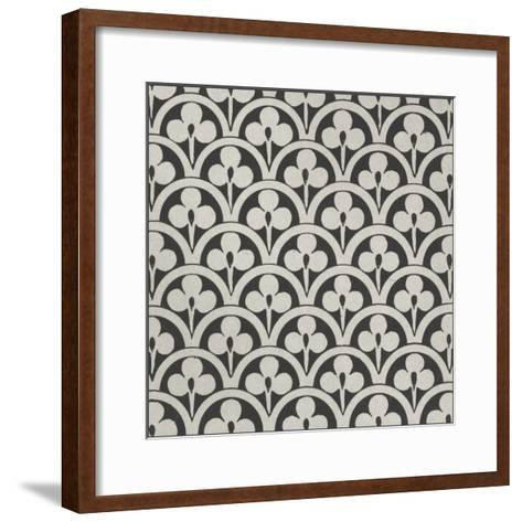 Black and Tan Tile I-Vision Studio-Framed Art Print