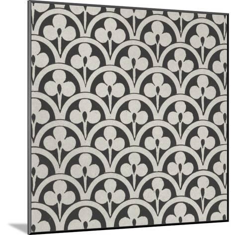 Black and Tan Tile I-Vision Studio-Mounted Art Print
