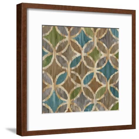 Ikat Symmetry III-Chariklia Zarris-Framed Art Print