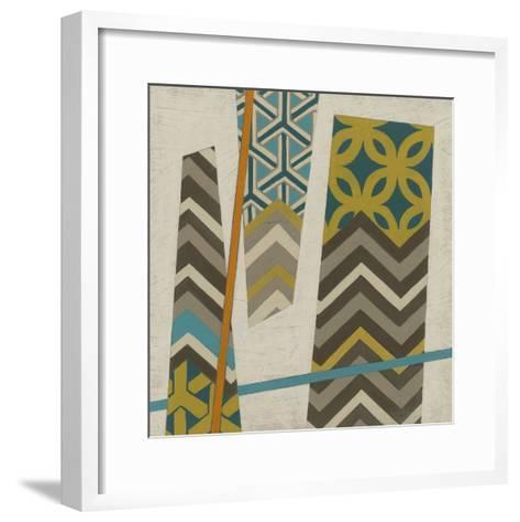 Abstract Scrapbook II-Erica J^ Vess-Framed Art Print