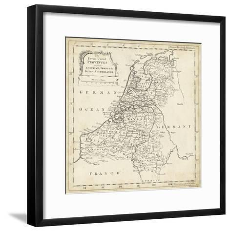 Map of Netherlands-T^ Jeffreys-Framed Art Print