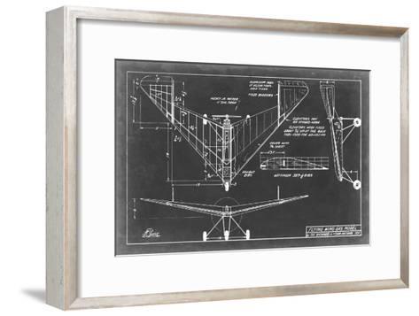 Aeronautic Blueprint V-Vision Studio-Framed Art Print