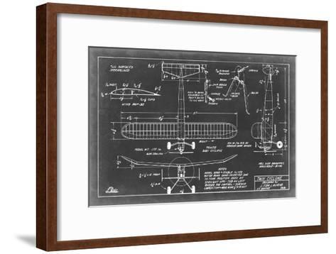 Aeronautic Blueprint VII-Vision Studio-Framed Art Print